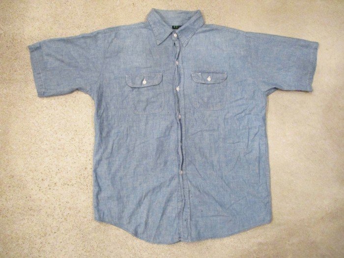 70\'s ELY Short Sleeve Chambray Shirts 100% COTTON_e0187362_11265738.jpg