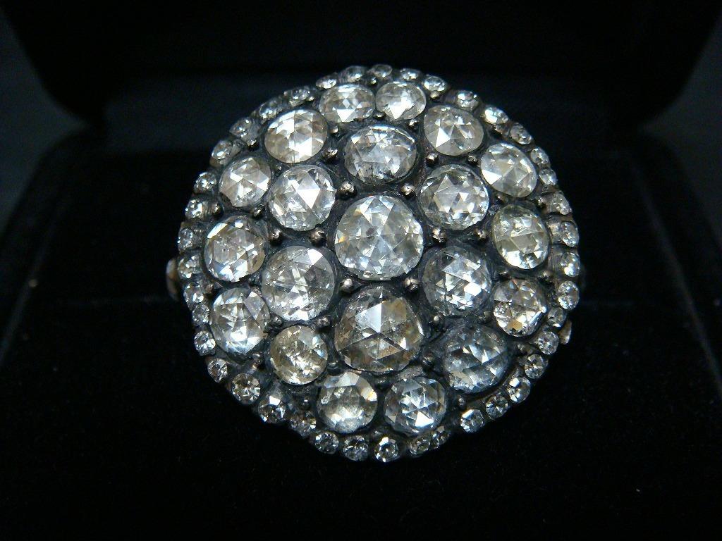 アンティーク ビクトリアン期 ローズカットダイヤモンドリング_a0167071_20245527.jpg