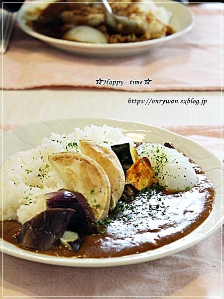 休日ランチは簡単に・野菜ビーフカレーとリク♪_f0348032_17265871.jpg
