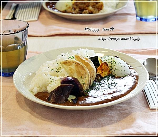 休日ランチは簡単に・野菜ビーフカレーとリク♪_f0348032_17271573.jpg