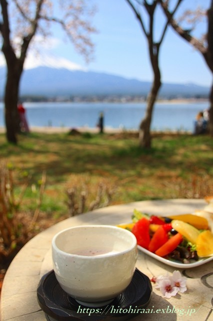富士山と桜 @河口湖畔のcafe_f0374092_11343629.jpg