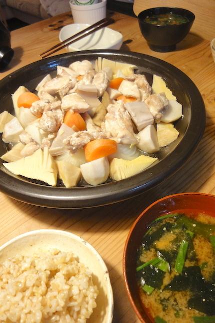 鶏と根菜のふっくらさん蒸し_f0054859_14230711.jpg