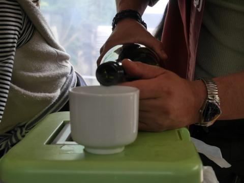 たけちゃんの炭火焼肴に球磨焼酎「武者返し」痛飲4・30_c0014967_09033606.jpg