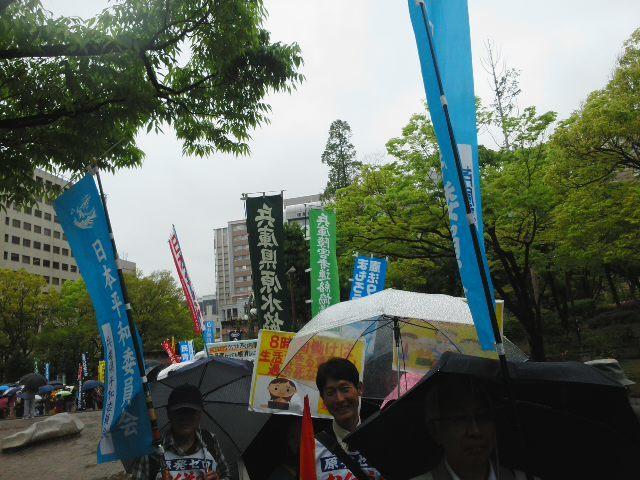 「兵庫県中央メーデー」☔ 雨の中 パレード&コール 🎶_f0061067_16091501.jpg