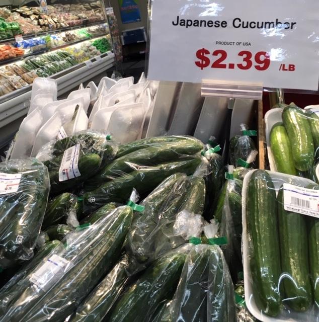 最近の日本食ーキュウリ、助六、桜餅_e0350971_13531687.jpg