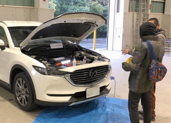 マツダ CX-8 ガソリン2.5ターボ アーシング追加施工_f0032891_16362233.jpg