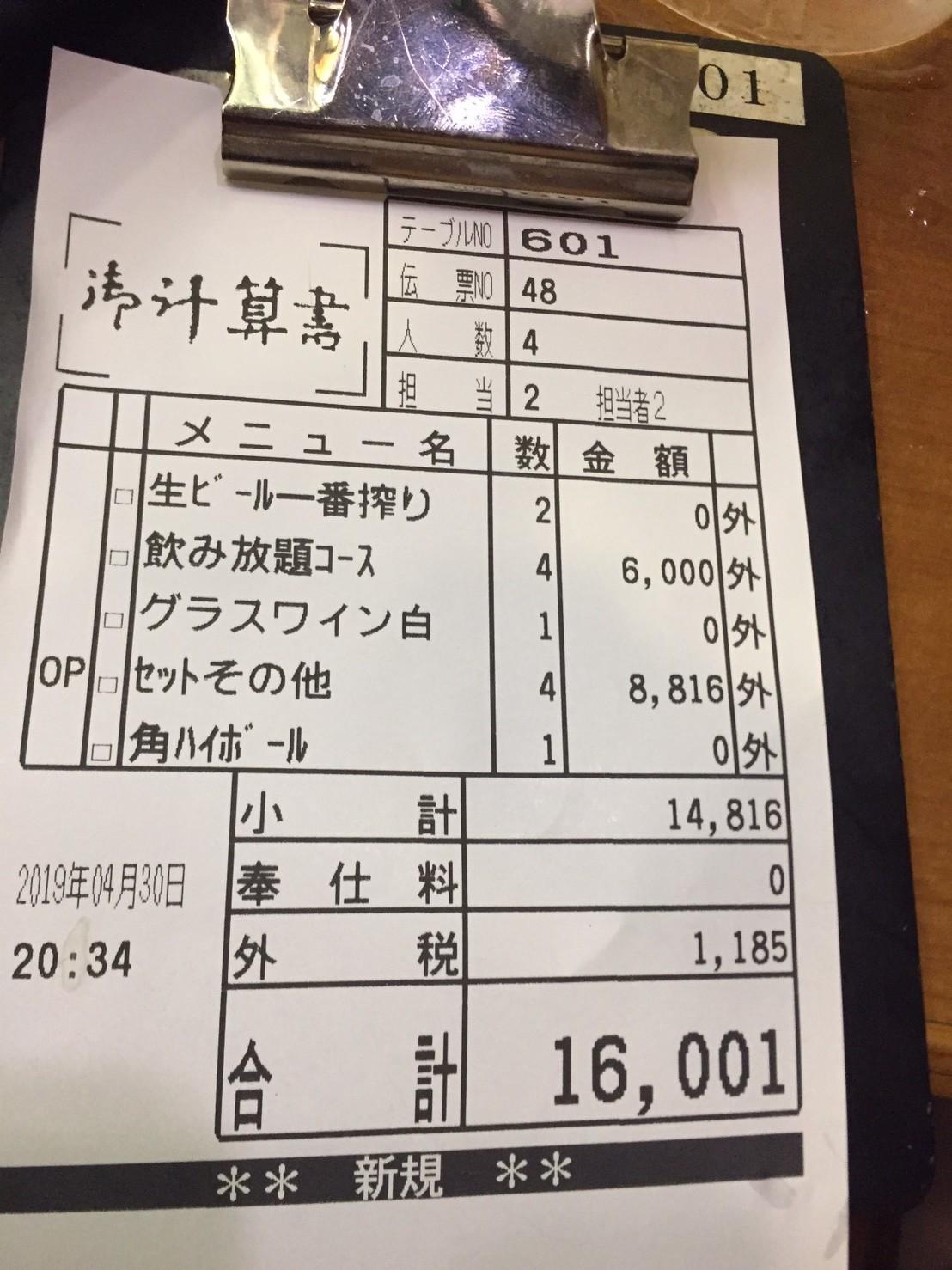 酒菜や  可可旨   平成ラスト呑み会_e0115904_02534996.jpg