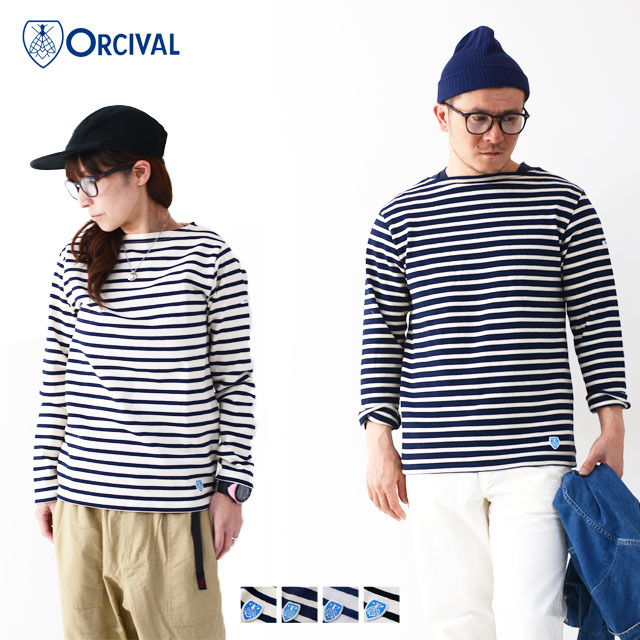 ORCIVAL [オーチバル・オーシバル] COTTON LOURD VASQUE BORDER [B211] バスクシャツ ボーダーカットソー 長袖Tシャツ MEN\'S/LADY\'S_f0051306_15182373.jpg