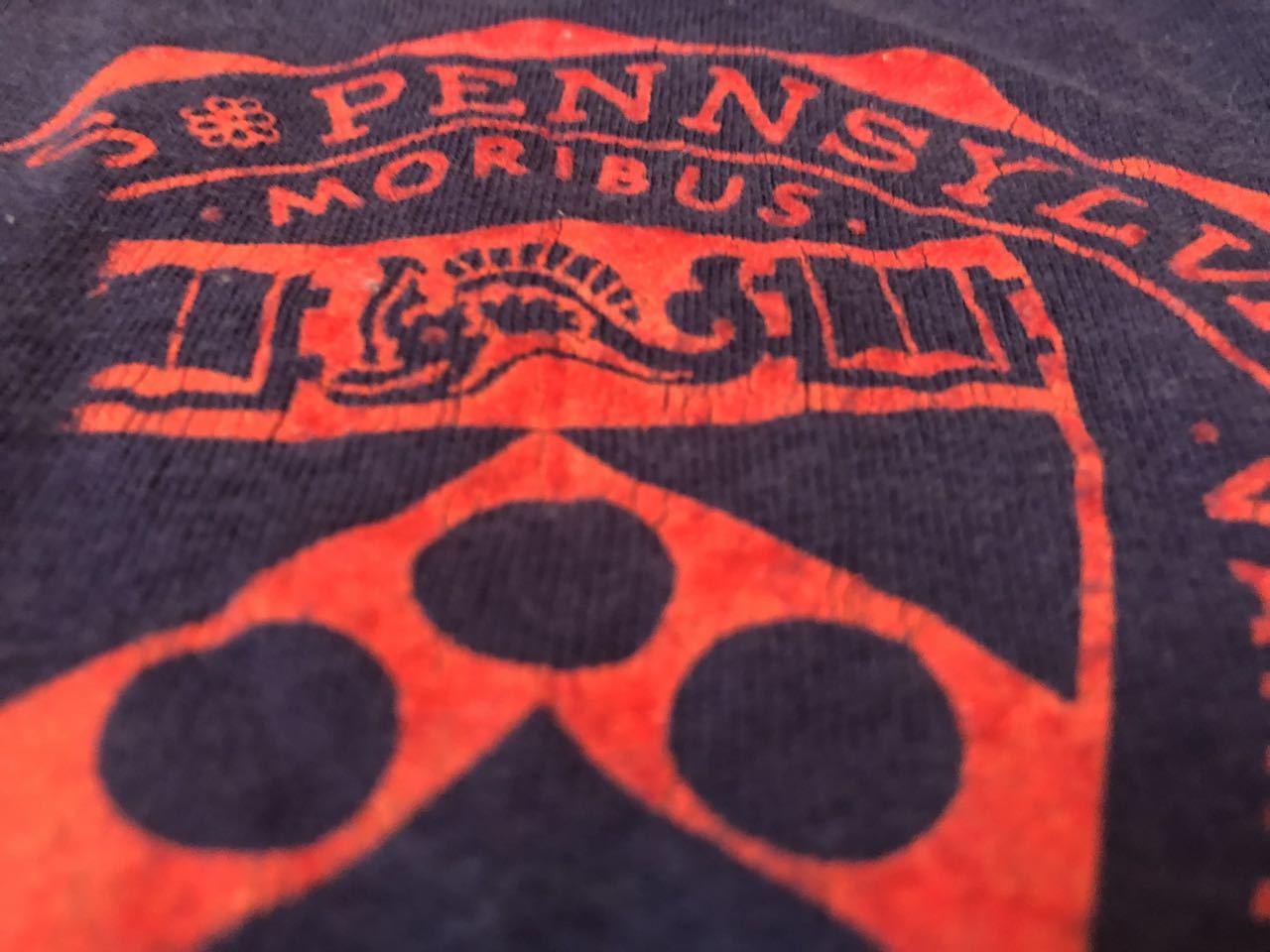 5月3日(金)入荷!all cotton フロッキープリント PENNSYLVANIA カレッジTシャツ!_c0144020_19455654.jpg