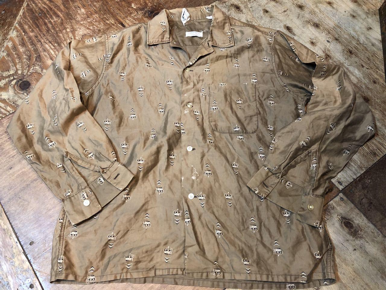 5月4日(土)入荷!60s all cotton  Roger Hale 王冠柄 オープンカラー ボックスシルエットシャツ!_c0144020_18232145.jpg