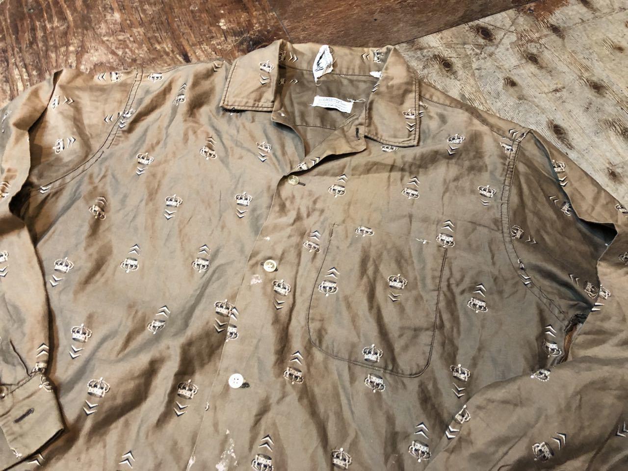 5月4日(土)入荷!60s all cotton  Roger Hale 王冠柄 オープンカラー ボックスシルエットシャツ!_c0144020_18232339.jpg