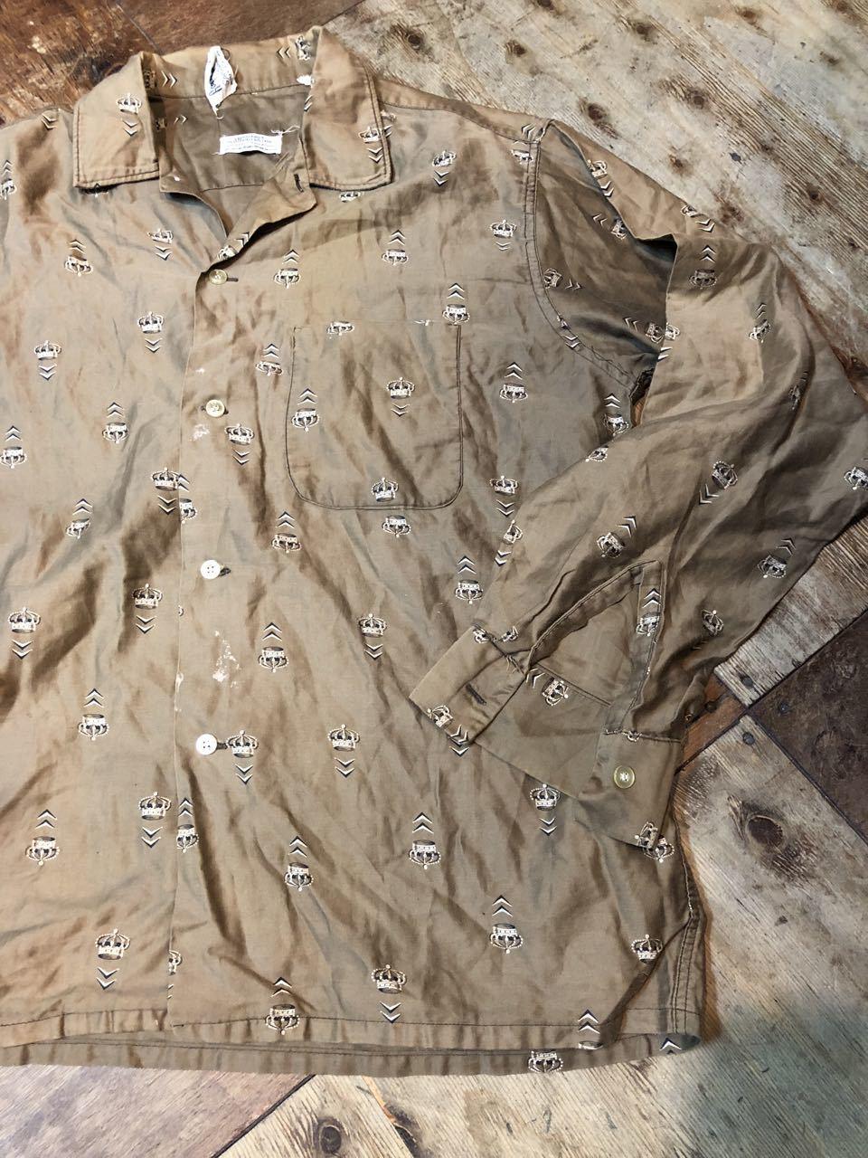5月4日(土)入荷!60s all cotton  Roger Hale 王冠柄 オープンカラー ボックスシルエットシャツ!_c0144020_18232520.jpg
