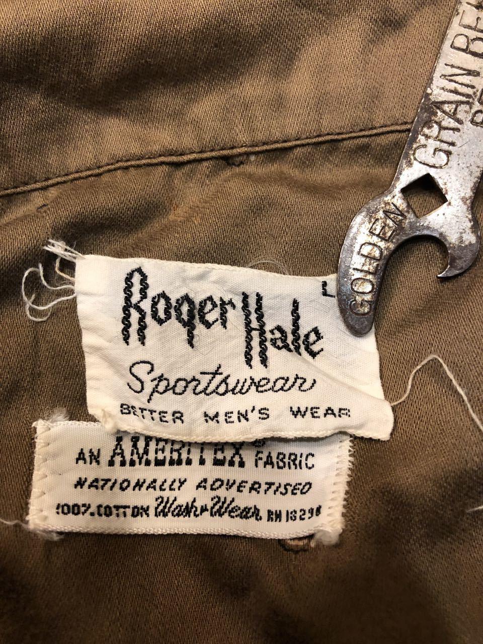 5月4日(土)入荷!60s all cotton  Roger Hale 王冠柄 オープンカラー ボックスシルエットシャツ!_c0144020_18232897.jpg