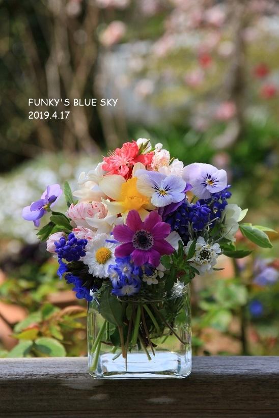 庭の小さなブーケ** (4月17日)_c0145250_11511899.jpg
