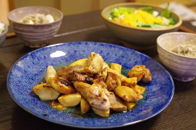 筍と鶏もも肉のバルサミコバター。_c0234685_10424289.jpg