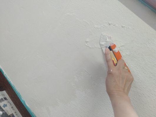 壁塗り開始_c0162128_16033919.jpg