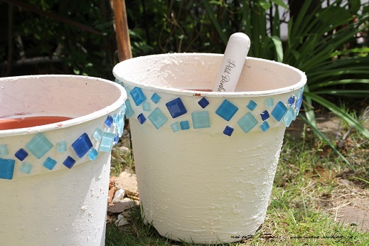 『NHK趣味の園芸』100均鉢植えプランターを漆喰風にリメイク(春の庭)_f0023333_22141460.jpg