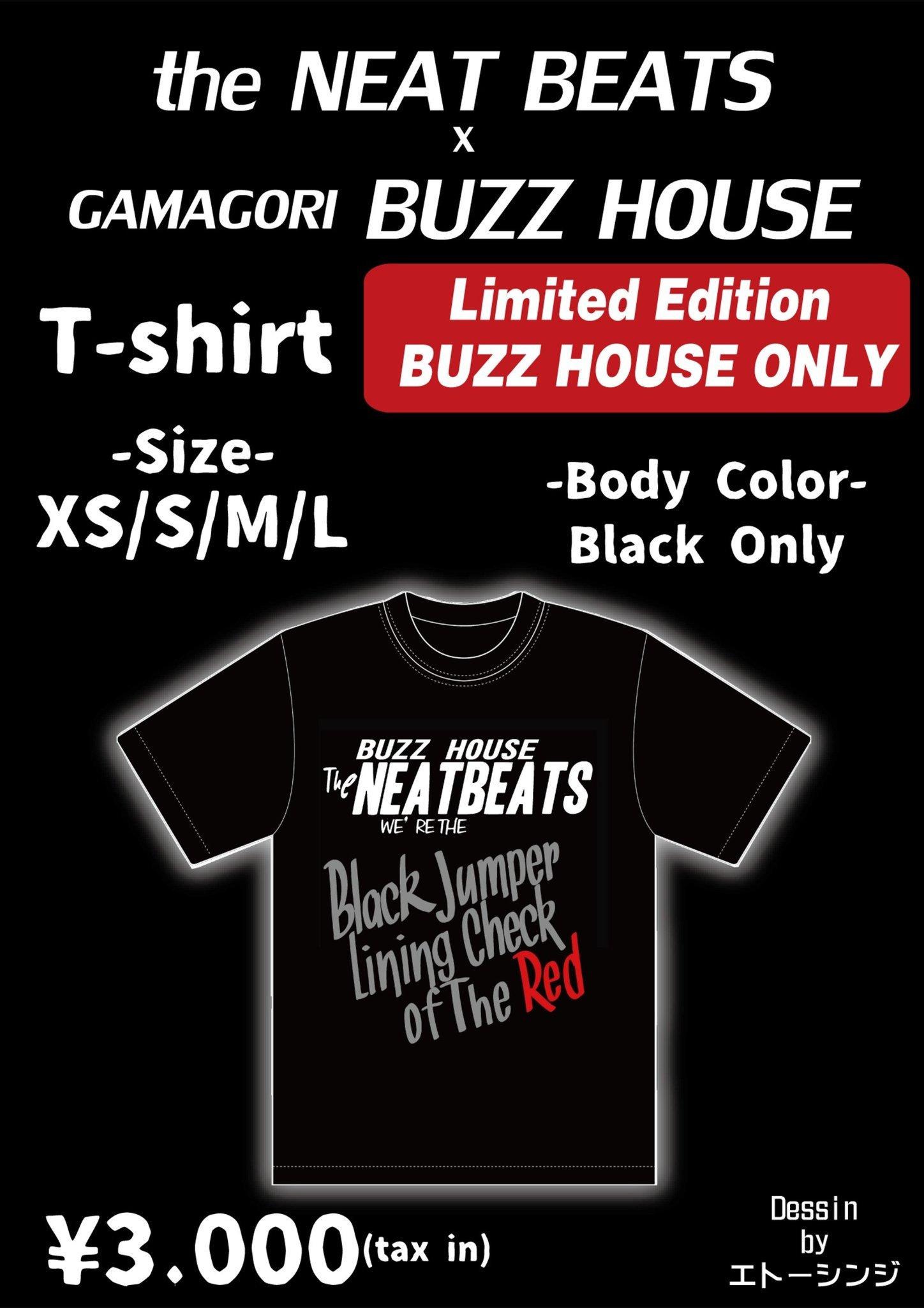 "THE NEATBEATS×BUZZ HOUSE \""Black jumper lining check of the red\"" 蒲郡限定Tシャツ発売!!  _b0123708_09334230.jpg"