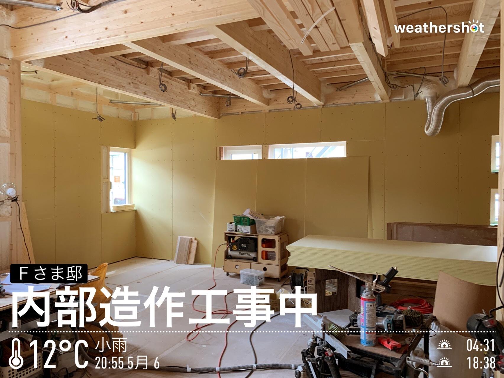 2019/5/6 内部造作工事中_f0116421_21313924.jpeg