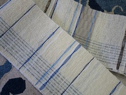 連休中は、夫婦仲良く(!?)半巾帯を制作中・・・。_f0177373_18033300.jpg