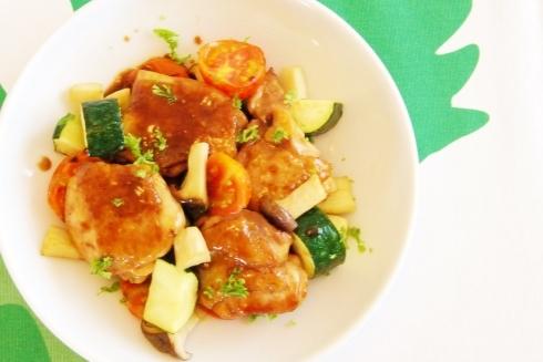 鶏肉のバルサミコはちみつソース プロのレシピ_c0122889_16034482.jpg