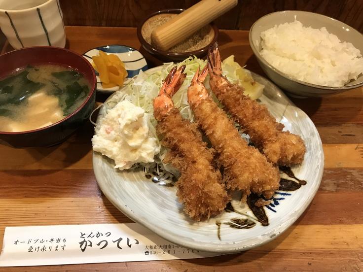 えびフライ定食♪@かつてい_c0212604_12422557.jpg