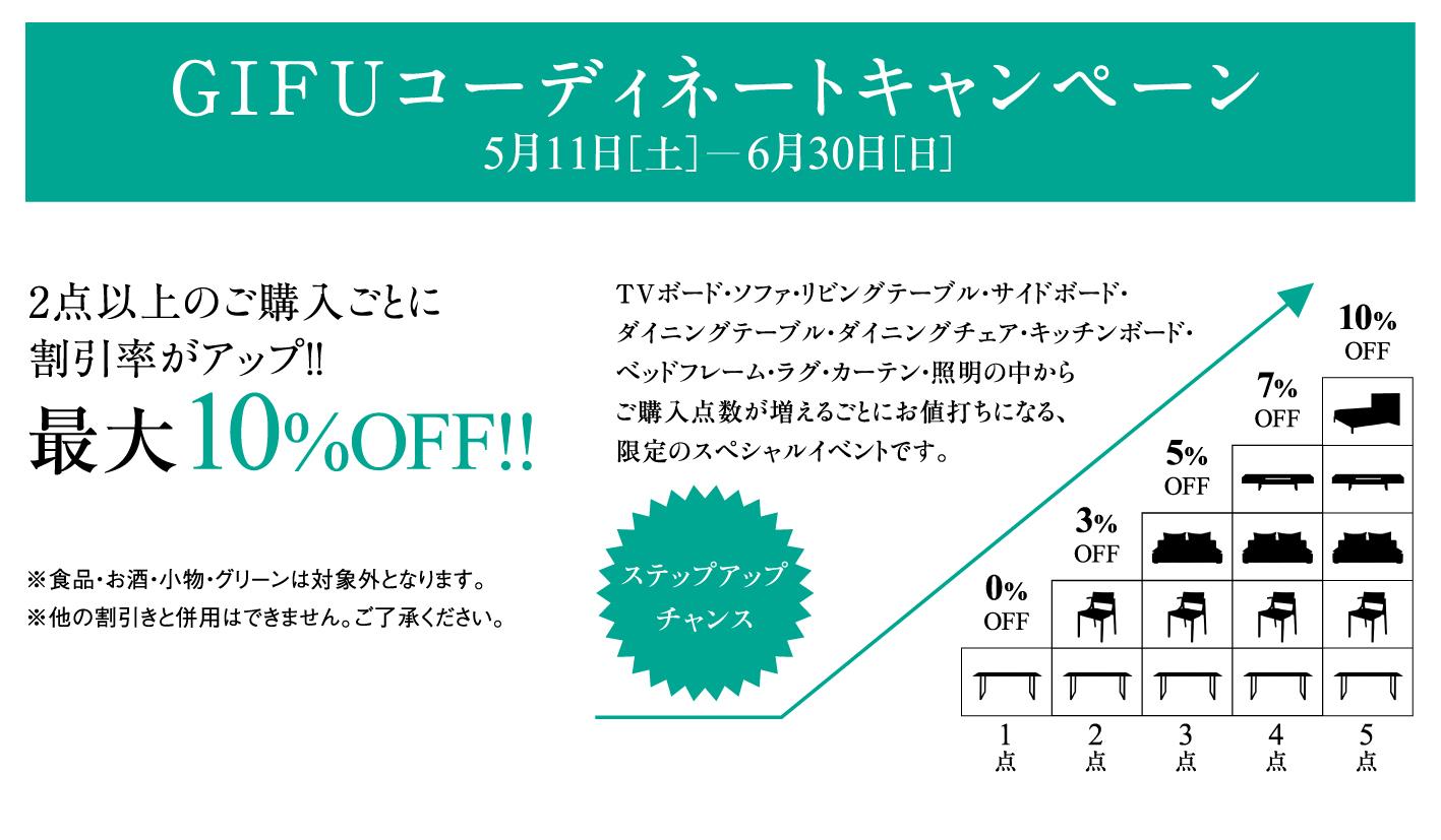 5/11(土)-6/30(日)G I F Uコーディネートキャンペーン