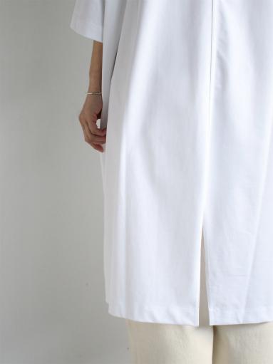 unfil suvin cotton jersey oversized T-shirt dress / white _b0139281_1918437.jpg
