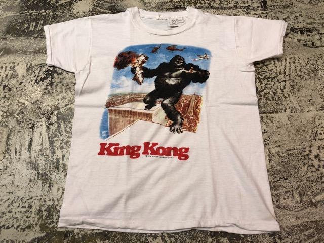 5月8日(水)マグネッツ大阪店、夏ヴィンテージ&スニーカー入荷!! #6 VintagePrintTeeShirt編! Budweiser & KingKongFilm!!_c0078587_2232675.jpg