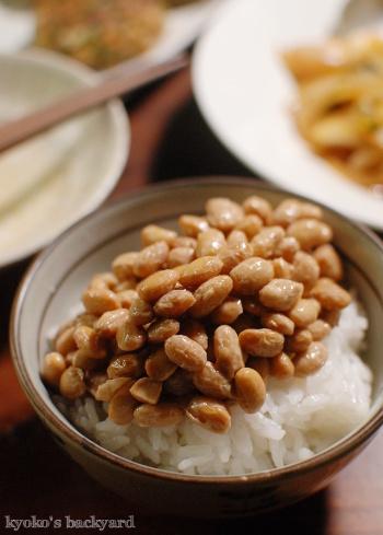 自家製納豆と鯖バーグが光る和風な食卓_b0253205_01074831.jpg