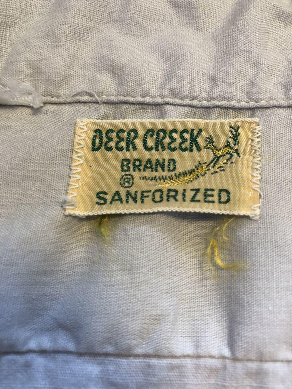 5月11日(土)入荷!50s ワンウォッシュ all cotton  Deer Creek 開襟シャツ!_c0144020_13304798.jpg