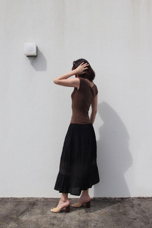 桐生のオパール加工 ロングフレアスカートBK for summer(1960)_e0104046_20331519.jpg