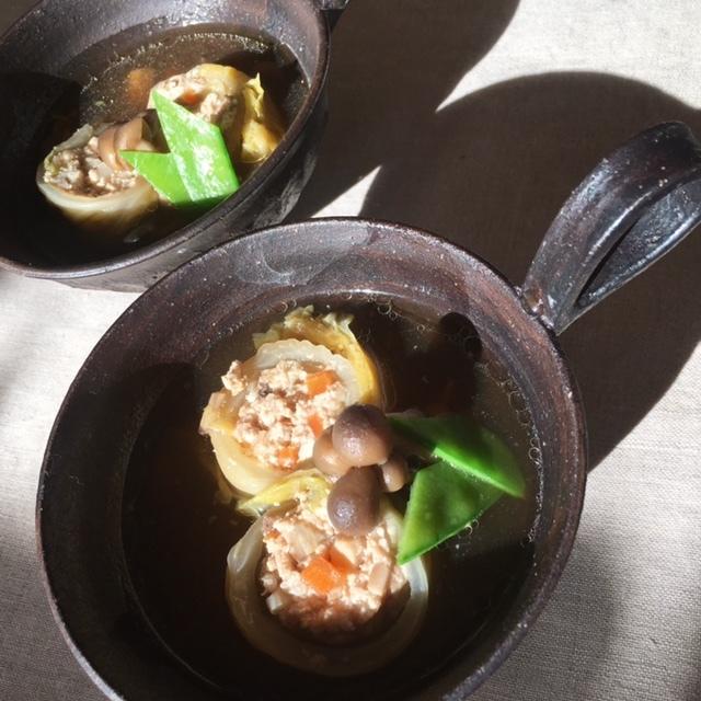 eary summer   お豆腐のロールキャベツのスープを♪_a0165160_15221954.jpg