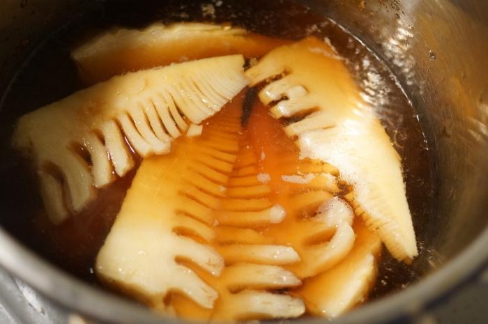 ■昼・麺類【竹の子と カリッと分厚い味付き油揚げ入り おそうめんで温麺】^^_b0033423_23151713.jpg