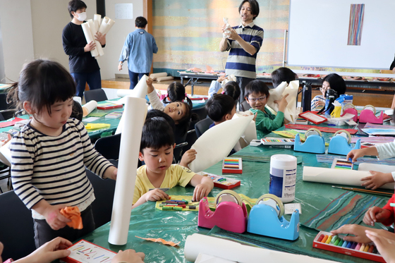 やと子ども美術教室 ~ たけのこ ~_e0222340_1514521.jpg