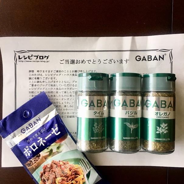 GABANモニタリングキャンペーン当選(レシピブログ)_d0327373_16035883.jpg