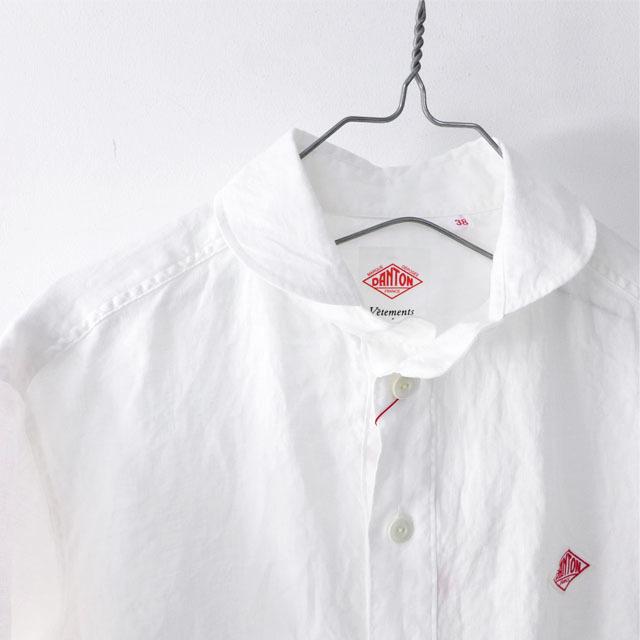 DANTON [ダントン] M\'s S/S LINEN CLOTH SHIRTS [JD-3569KLS] 半袖オックスフォードシャツ MEN\'S_f0051306_10133605.jpg