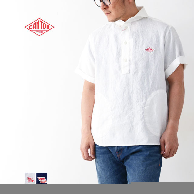 DANTON [ダントン] M\'s S/S LINEN CLOTH SHIRTS [JD-3569KLS] 半袖オックスフォードシャツ MEN\'S_f0051306_10133637.jpg