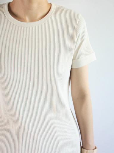 THE HINOKI オーガニックコットン 針抜きスムース ハーフスリーブTシャツ (LADIES ONLY)_b0139281_1005747.jpg