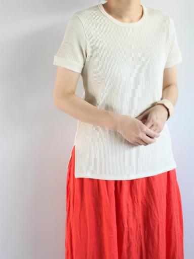 THE HINOKI オーガニックコットン 針抜きスムース ハーフスリーブTシャツ (LADIES ONLY)_b0139281_9594167.jpg