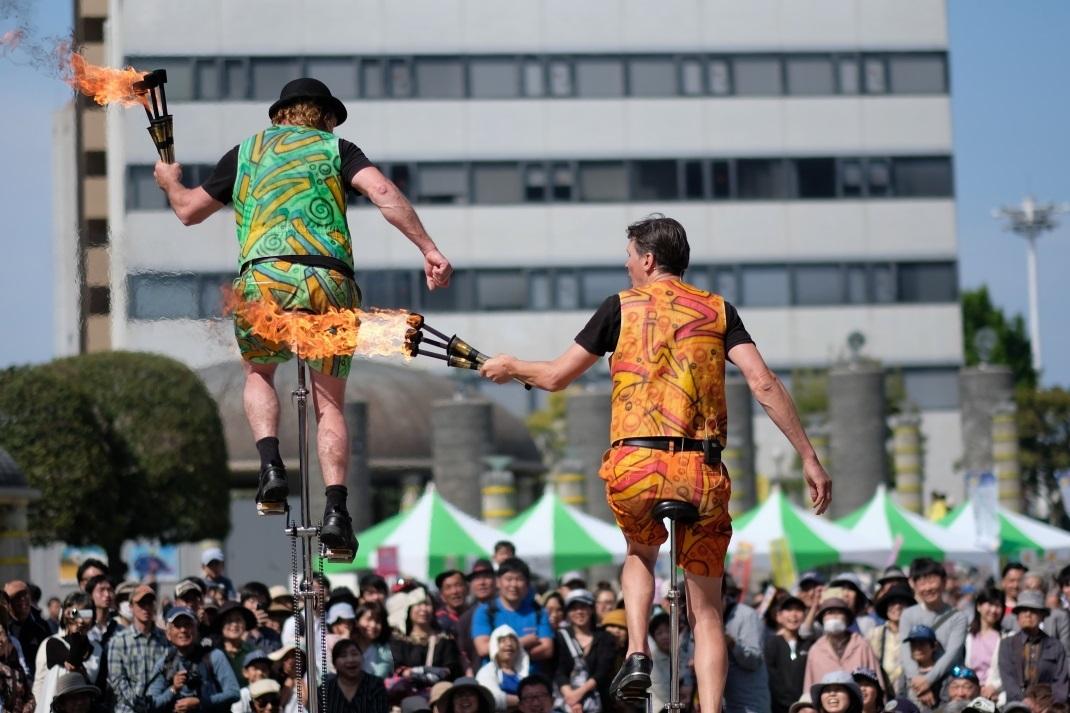 ひたち国際大道芸 <6> The Flying Dutchmen Fromカナダ&オランダ 2019・05・11_e0143883_20135709.jpg