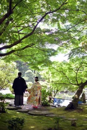 新緑が綺麗な庭園等......婚礼写真は鳥取市内の有隣荘で......_b0194185_21165862.jpg