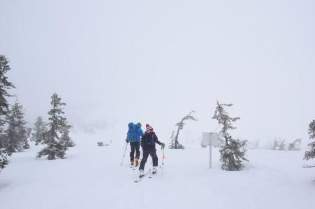 2019年4月27日、小雪交じりの尾瀬至仏山から山の鼻に滑り降りる。_c0242406_12081092.jpg