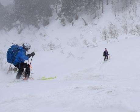 2019年4月27日、小雪交じりの尾瀬至仏山から山の鼻に滑り降りる。_c0242406_14392497.jpg