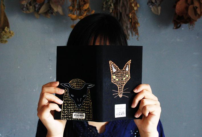 「刺繍風」ブックカバーを簡単DIY_d0351435_18103885.jpg