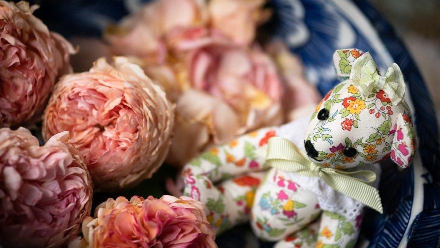 薔薇を愛でるテディベアたち_d0353489_17295382.jpg