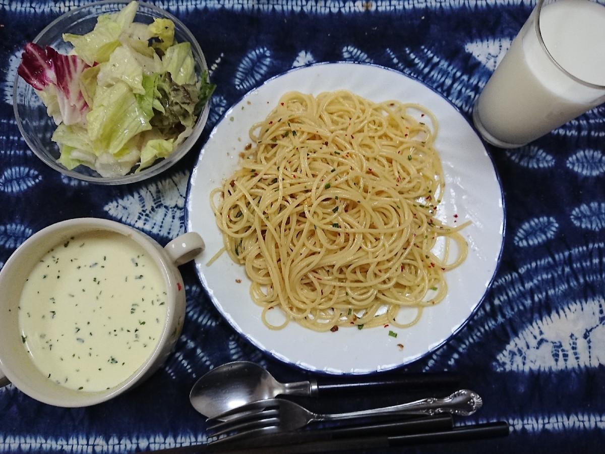 5/15  エスビー食品  花椒ペペロンチーノ & 冷製コーンポタージュスープ_b0042308_18063267.jpg