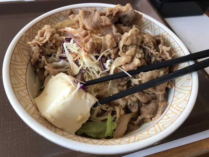 牛丼ライト お肉大盛@すき家_c0212604_12243172.jpg