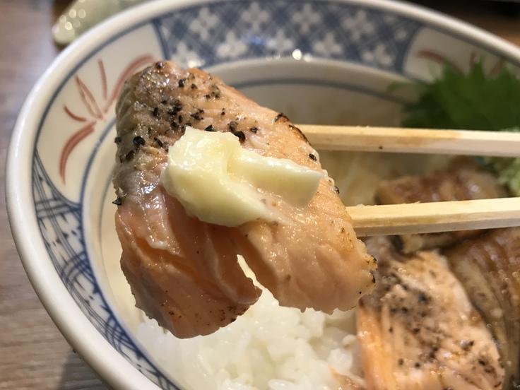 サーモンと穴子の炙り丼@磯丸水産_c0212604_1221591.jpg