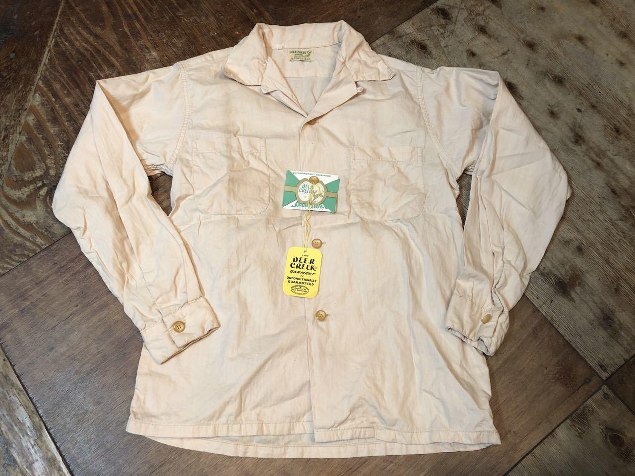 5月18日(土)入荷!50s ワンウォッシュ Deer Creek  all cotton ボックス 開襟シャツ!_c0144020_13291882.jpg